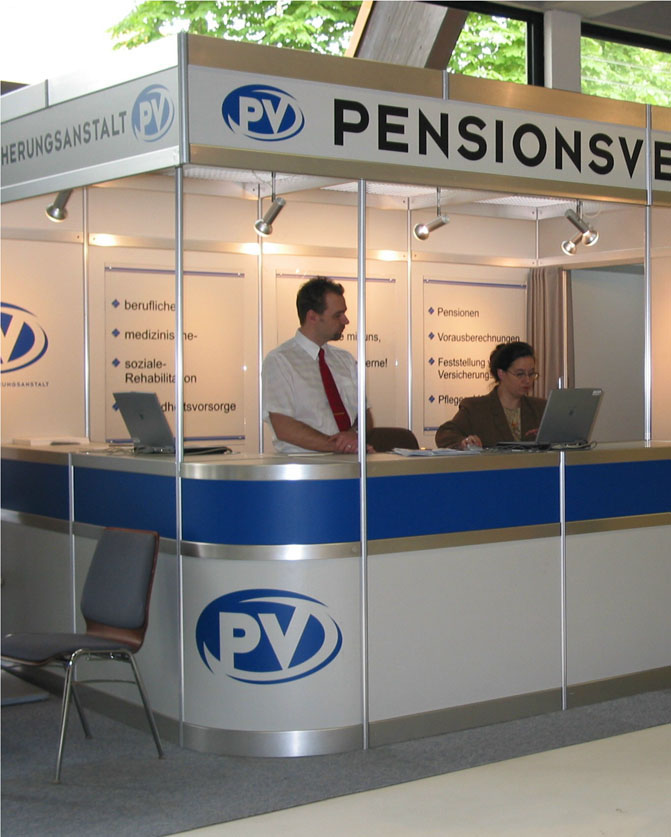 Messestand © Pensionsversicherungsanstalt